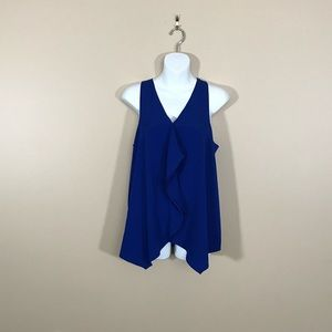 The Limited Blue Racerback Tank Top